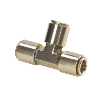 3/8 in. Brass Slip Lock T-Connector
